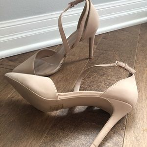 Nude and Clear Vegan Heels